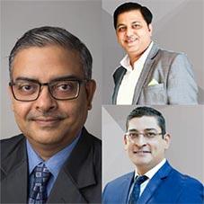 Santanu Ganguly, CEO, Vinod Singh , Managing Director,Arjun Vishwanathan, CRO