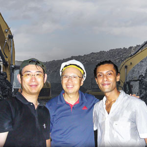L-R Masaru Shimomura(Shizuoka University), Masamichi Yoshimua (Toyota Technological in Stitute - Japan) & Sheriozha Anthony Wijekoon, (Co-Founder, Director & CEO of RS Mines)