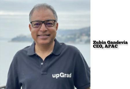 upGrad Signals APAC Growth; Appoints ex-Disney Chief Zubin Gandevia as CEO, APAC