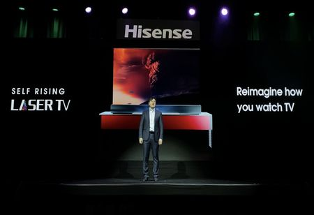 Hisense Launches Self-Rising Laser TV at CES 2020
